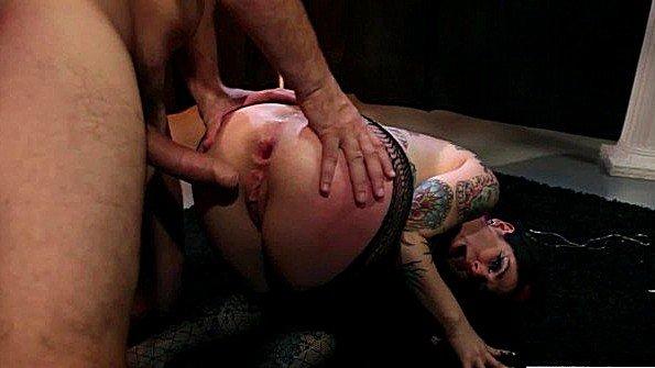 В задницу большегрудую крупным членом жестко выебали по принуждению со спермачём лижет письку (Joanna Angel, Manuel Ferrara)