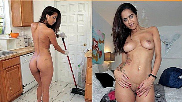 Широкобёдрую жестко ебёт латиночка (Abby Lee Brazil, J-mac)