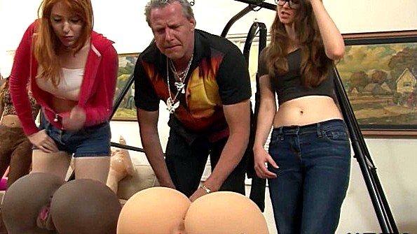 Оргия жесткий секс красивая с вибратором (Anthony Rosano, Dick Chibbles, Evan Stone, Lauren Phillips)