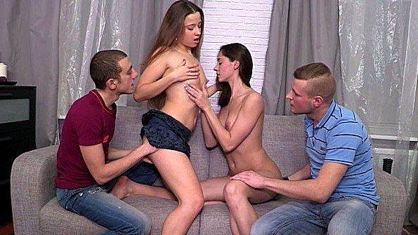 Групповой секс жестко оттрахали молодая русские (Aruna Aghora, Taissa Shanti)